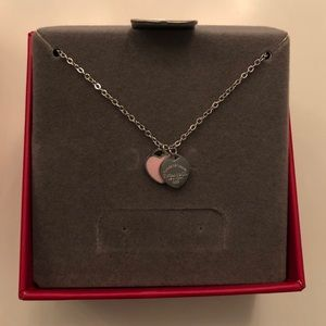 Tiffany & Co. pink heart necklace